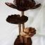 Coconut Shell Lotus Lamp (โคมไฟกะลามะพร้าว ต้นดอกบัวฉลุ) thumbnail 1