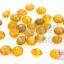 ลูกปัดแก้ว ทรงจานบิน สีน้ำตาลทองใส 9มิล (1ขีด/100กรัม) thumbnail 1