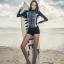 ชุดว่ายน้ำแขนยาวซิปหน้า กางเกงขาสั้น ลายสวยๆ thumbnail 3