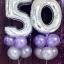 """ลูกโป่งฟอยล์รูปตัวเลข 5 สีเงิน ไซส์จัมโบ้ 40 นิ้ว - Number 5 Shape Foil Balloon Size 40"""" Silver Color thumbnail 1"""