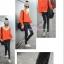 กางเกงยีนส์เดฟขายาว สีโทนดำ : SIZE L รหัส PN061 thumbnail 3