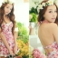 PRE ชุดว่ายน้ำวันพีซ สไตล์วินเทจ floral สวยๆ กระโปรงระบาย ด้านในเปนกางเกงขาสั้น thumbnail 7