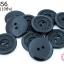กระดุมพลาสติก สีดำ 20มิล(10ชิ้น) thumbnail 1
