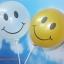 """ลูกโป่งกลมพิมพ์ลายหน้ายิ้ม ไซส์ 12 นิ้ว แพ็คละ 10 ใบ สีใส (Round Balloons 12"""" - Printing Smiley latex balloons clear color) thumbnail 1"""