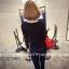 เสื้อแฟชั่นเกาหลี แขนยาว ตกแต่งคอเสื้อเก๋ ๆ ตามรูป ทรงเข้ารูป สีดำสุภาพ thumbnail 2