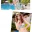 พร้อมส่ง ชุดว่ายน้ำคู่รัก ชุดว่ายน้ำบิกินี่ทูพีซ ลายสัตว์ทะเล พร้อมชุดแซกคลุมผ้าซีทรูสวย thumbnail 8