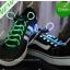 เชือกผูกรองเท้าไฟกระพริบ LED สีเขียว รหัส LD003 thumbnail 1