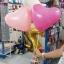 """ลูกโป่งหัวใจ เนื้อสแตนดาร์ทสีชมพูเข้ม ไซส์ 12 นิ้ว แพ็คละ 10 ใบ (Heart Latex Balloon - Deep Pink Color 12"""") thumbnail 2"""