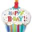 ลูกโป่งฟลอย์นำเข้า Happy Birth Day Striped Cupcake / Item No. AG-24477 แบรนด์ Anagram ของแท้ thumbnail 3