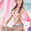 พร้อมส่ง ชุดว่ายน้ำ Bikini ผูกข้าง ทูพีซ บราโทนสีส้มอ่อนๆ ลายโบฮีเมียนสวยๆ thumbnail 1