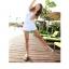 PRE ชุดว่ายน้ำสไตล์เจ้าสาว วันพีซสีขาว เก๋ด้วยซีทรูช่วงอกติดโบว์ใหญ่ มีกระโปรงคลุมสวย thumbnail 4