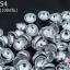 ฝาครอบสีเงินแบบสอย 2 รู D #4 8มิล(1ขีด/100กรัม) thumbnail 1