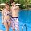 PRE ชุดว่ายน้ำคู่รัก บิกินี่ ลายสวย พร้อมชุดคลุมเอี๊ยม มีฮู้ด thumbnail 15