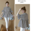 K114221 เสื้อคลุมท้องแฟชั่นเกาหลี โทนสีดำสลับ thumbnail 7