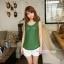 เสื้อคลุมท้องแขนกุด มีกระดุมปรับขนาด : สีเขียว รหัส SH165 thumbnail 7
