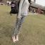 กางเกงผ้าคอตตอนขาวยาว ลาย BOHEMIAN สีดำ : SIZE M รหัส PN181 thumbnail 3
