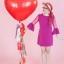 """ลูกโป่งหัวใจจัมโบ้ไซส์ใหญ่ 36"""" Latex Balloon HB Balloon RED 3FT สีแดง/ Item No. TQ-44353 แบรนด์ Qualatex thumbnail 2"""