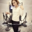 เสื้อแฟชั่นเกาหลี แขนยาว ตกแต่งคอเสื้อเก๋ ๆ ตามรูป ทรงเข้ารูป สีขาวสุภาพ thumbnail 3