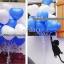 """ลูกโป่งหัวใจ เนื้อสแตนดาร์ทสีน้ำเงิน ไซส์ 12 นิ้ว แพ็คละ 10 ใบ (Heart Latex Balloon - Deep Blue Blue Color 12"""") สำเนา thumbnail 3"""