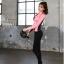 ชุดว่ายน้ำขายาวแขนยาว สีชมพู เซ็ต 4 ชิ้น (สปอร์ตบรา+เสื้อแขนยาว+บิกินี่+ขายาว) thumbnail 4
