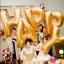"""ลูกโป่งฟลอย์รูปตัวอักษร P สีทอง ไซส์จัมโบ้ 40 นิ้ว - P Letter Shape Foil Balloon Size 40"""" Gold Color thumbnail 7"""