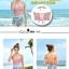 พร้อมส่ง ชุดว่ายน้ำเอวสูง สีชมพู ลายดอกไม้สวยๆ thumbnail 5