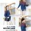 เสื้อคลุมท้องแขนยาว ไหล่ลายจุดพื้นน้ำตาล : สีน้ำเงิน รหัส SH193 thumbnail 5