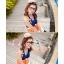 พร้อมส่ง ชุดว่ายน้ำทรงแซก เซ็ต 2 ชิ้น สายคล้องคอ สลับสีส้ม ขาว น้ำเงินสวยๆ thumbnail 4