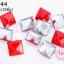 เป็กติดเสื้อ ทรงสี่เหลี่ยม สีแดง 12 มิล(10ชิ้น) thumbnail 1