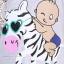 เสื้อคลุมท้องแขนมีลูกไม้ ลายเด็กน้อยขี่ม้า : สีเทา รหัส SH219 thumbnail 11