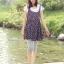 กางเกงเลคกิ้งคลุมท้อง ผ้าคอตตอน : สีเทา รหัส PN045 thumbnail 10