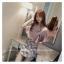 เสื้อแฟชั่นเกาหลี แขน 2 ส่วนแต่งระบายใหญ่ สวยเก๋ สีชมพูอ่อน + สร้อยคอ thumbnail 8