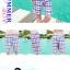 PRE ชุดว่ายน้ำคู่รัก ชุดว่ายน้ำ Tankini สายสปาเก็ตตี้ ลายสก๊อตน่ารักสดใส กางเกงกระโปรง thumbnail 6