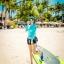 ชุดว่ายน้ำแขนยาว เสื้อสีฟ้า กางเกงขาสั้นสีดำ thumbnail 1