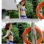 พร้อมส่ง ชุดว่ายน้ำบิกินี่ เซ็ต 3 ชิ้น สายคล้องคอ ลายทางสลับสีสวยๆ กระโปรงแต่งระบายๆ thumbnail 10