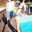 PRE ชุดว่ายน้ำคู่รัก ชุดว่ายน้ำบิกินี่ ลายโบฮีเมียนสีกรมท่า สายคล้องคอ พร้อมชุดคลุมลายสวย thumbnail 6