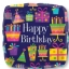 ลูกโป่งฟลอย์นำเข้า Happy Birthday Party Time / Item No. AG-28005 แบรนด์ Anagram ของแท้ thumbnail 1