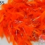 ขนนก มีดิ้น สีส้ม (1เส้น) thumbnail 1