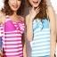 พร้อมส่ง ชุดว่ายน้ำ Tankini สายเสื้อกล้าม ลายขวางสีสวย แต่งโบว์ใหญ่ที่อกน่ารักมาก thumbnail 6
