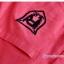 เสื้อเชิ้ตคลุมท้องคอปก สีแดงอ่อน ปักลายตัว R : SIZE XL รหัส SH145 thumbnail 5