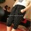 กางเกงเลคกิ้งคลุมท้อง ลายจุด Polka Dot : สีดำ รหัส PN195 thumbnail 1