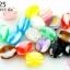 ลูกปัดพลาสติก สีลูกกวาด ทรงโอ่ง คละสี 10X11มิล(1ขีด/100กรัม) thumbnail 1