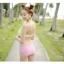 PRE ชุดว่ายน้ำบิกินี่ บรามีโครง สายคล้องคอ กางเกงบิกินี่ พร้อมเสื้อคลุมลายสวยเก๋ thumbnail 10