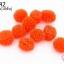 ปอมปอมไหมพรม สีส้ม 1ซม (10ชิ้น) thumbnail 1