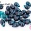 ลูกปัดแก้ว ทรงหยดน้ำ สีฟ้าอมเขียวเข้ม 10x15 มิล (1ขีด/100กรัม) thumbnail 1