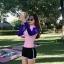 ชุดว่ายน้ำแขนยาวสีชมพู-น้ำเงิน กางเกงขาสั้นสีดำ thumbnail 2