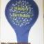 """ลูกโป่งจัมโบ้ สีน้ำเงินพิมพ์ลาย Happy Birthday ขนาด 24 นิ้ว - Round Jumbo Balloon Blue printing HBD 24"""" thumbnail 5"""