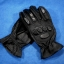 ถุงมือมอเตอร์ไซค์เต็มมือ หนังแท้สีดำ สนับรอบ thumbnail 3