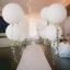 """ลูกโป่งกลมจัมโบ้ไซส์ใหญ่ 36"""" Latex Balloon RB WHITE 3FT สีขาว/ Item No. TQ-42847 แบรนด์ Qualatex thumbnail 3"""