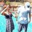 PRE ชุดว่ายน้ำคู่รัก ชุดว่ายน้ำบิกินี่ ลายโบฮีเมียนสีกรมท่า สายคล้องคอ พร้อมชุดคลุมลายสวย thumbnail 5